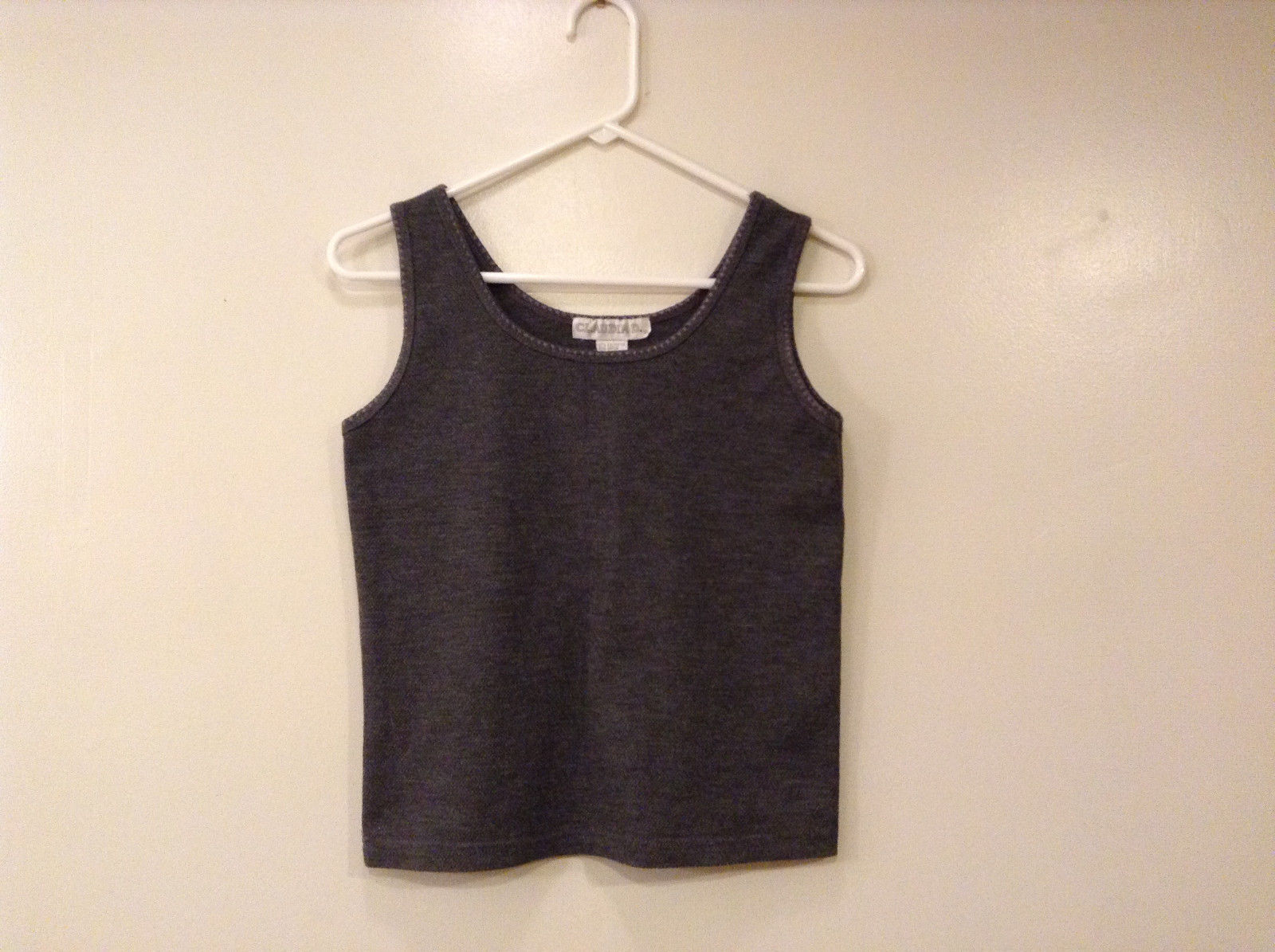 Ladies Claudia D. Gray Sleeveless Tank Top T-shirt, size S Poly/Rayon blend