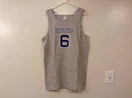 Mens Champions Graphic Gray Sleeveless Basketball #6 T-Shirt Tank Top Size XL image 1