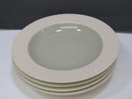 Wedgwood Stone Harbor Seagrass Set of 4 Rimmed Pasta Bowls / Soup Bowls - $39.60