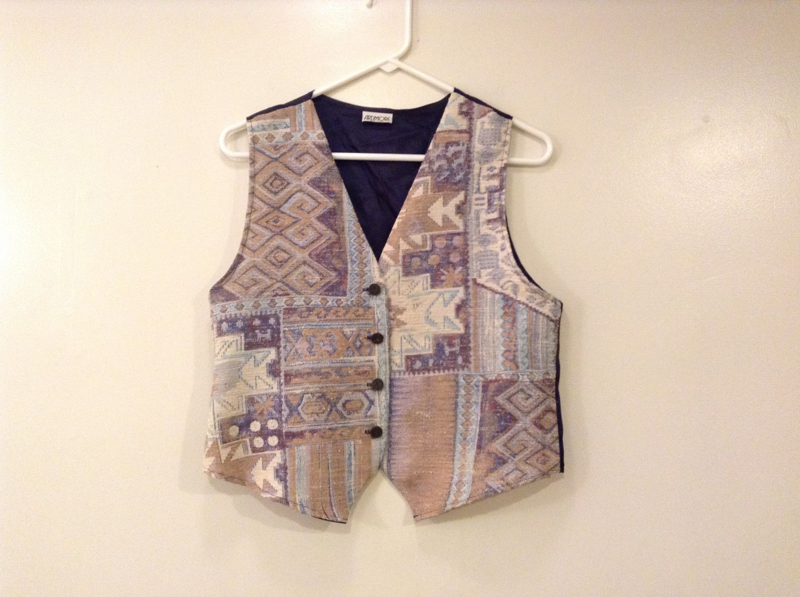 Womens Ardmore Geometric Print Fabric Vest, size NO tag see measurements