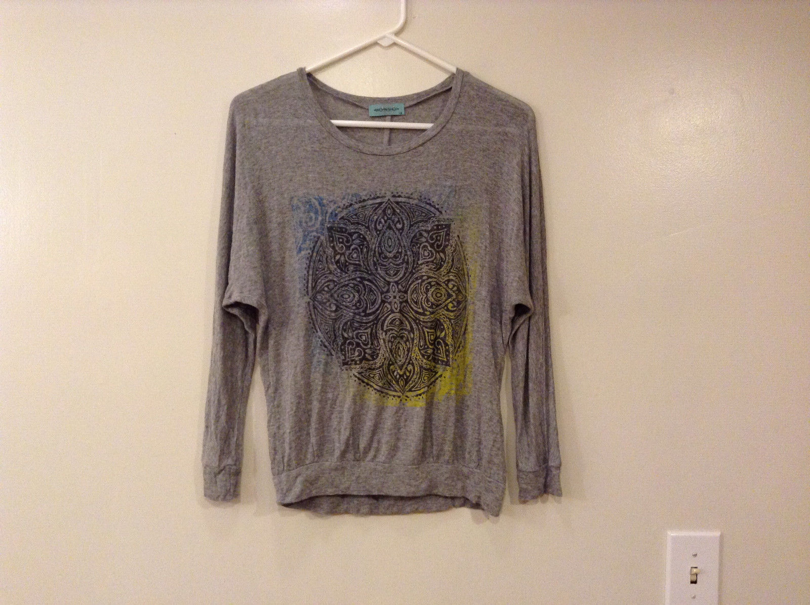 Womens Workshop Heather Gray 1/2 Sleeve T-shirt Blouse, size XS