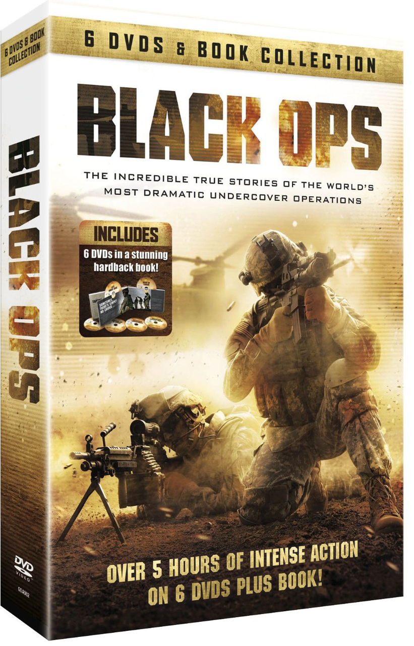 Black ops   6 dvds   book collection
