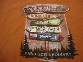 Snoqualmie Falls Washington WA Vacation Souvenir Travel Orange T Shirt XL - $17.17