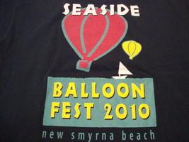 New Smyrna Beach Seaside Balloon Festival Hot Air Balloon 2010 Blue T Sh... - $17.17