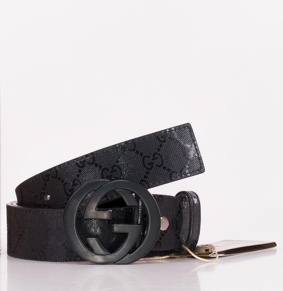 Gucci men's leather belt with interlocking G buckle - Belts