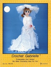 "Gabrielle Bride Dress for 15"" Fashion Doll Td Creations Crochet PATTERN - $2.67"