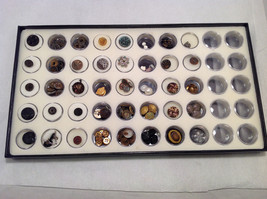 Assorted Lot of 40+ Sewing Buttons Antique Vintage w/ 5x10  Display Case image 3