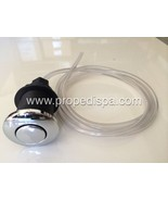 High quality Chrome air push button / switch with hose for pedicure spa ... - $17.81