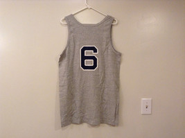 Mens Champions Graphic Gray Sleeveless Basketball #6 T-Shirt Tank Top Size XL image 2