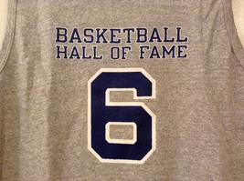 Mens Champions Graphic Gray Sleeveless Basketball #6 T-Shirt Tank Top Size XL image 3