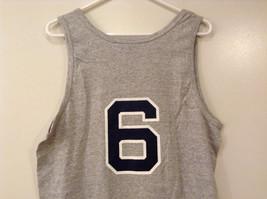 Mens Champions Graphic Gray Sleeveless Basketball #6 T-Shirt Tank Top Size XL image 6