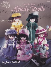 Melody Dolls, Crochet 13 inch Doll Clothes Pattern Booklet  ASN 1098 - $5.95