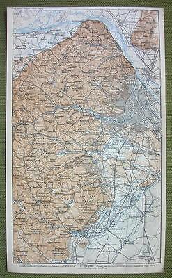 AUSTRIA Vienna & Environs - 1911 MAP ORIGINAL Baedeker