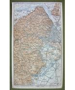 AUSTRIA Vienna & Environs - 1911 MAP ORIGINAL B... - $9.41