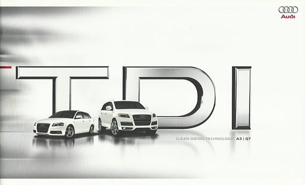 2009/2010 Audi TDI sales brochure catalog A3 Q7 10 US