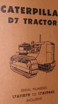 Caterpillar Cat D7 Tractor Parts Book 17 A11879 17 A19442 Dozer Factory Oem X - $83.16