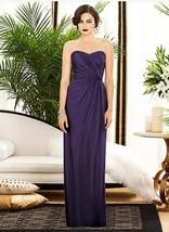 Dessy 2882.......Strapless, Full length, Chiffon Dress....Concord....Sz 8 L - $89.09