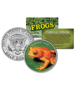 GOLDEN TOAD *Collectible Frogs* JFK Kennedy Half Dollar US Colorized Coi... - $169,22 MXN
