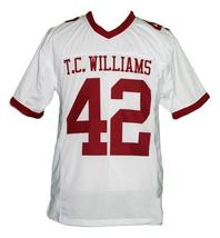 Bertier #42 T.C.Williams The Titans Movie New Men Football Jersey White Any Size image 3