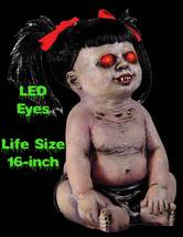Life Size Crying DEMONICA UNDEAD ZOMBIE BABY GIRL Demon Doll Horror Prop... - $59.37