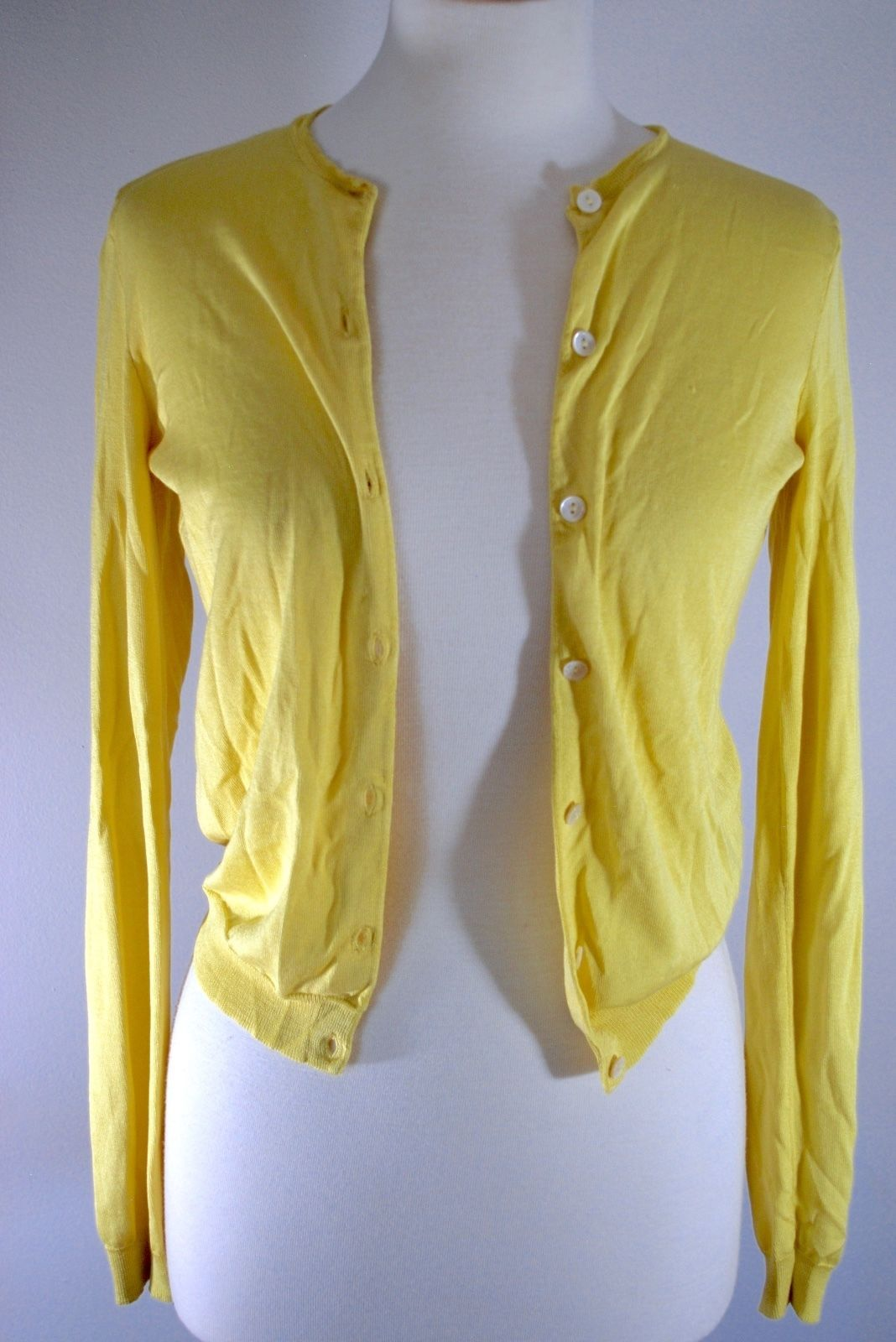 Yellow Gold Cardigan Sweater - Cashmere Sweater England