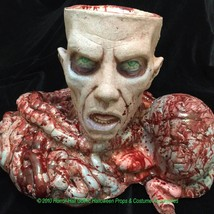 Severed ZOMBIE HEAD BRAIN BOWELS CANDY BOWL PROP-Haunted House Horror De... - $128.67