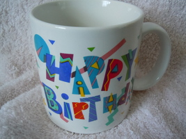 Russ Happy Birthday Mug New - $1.99