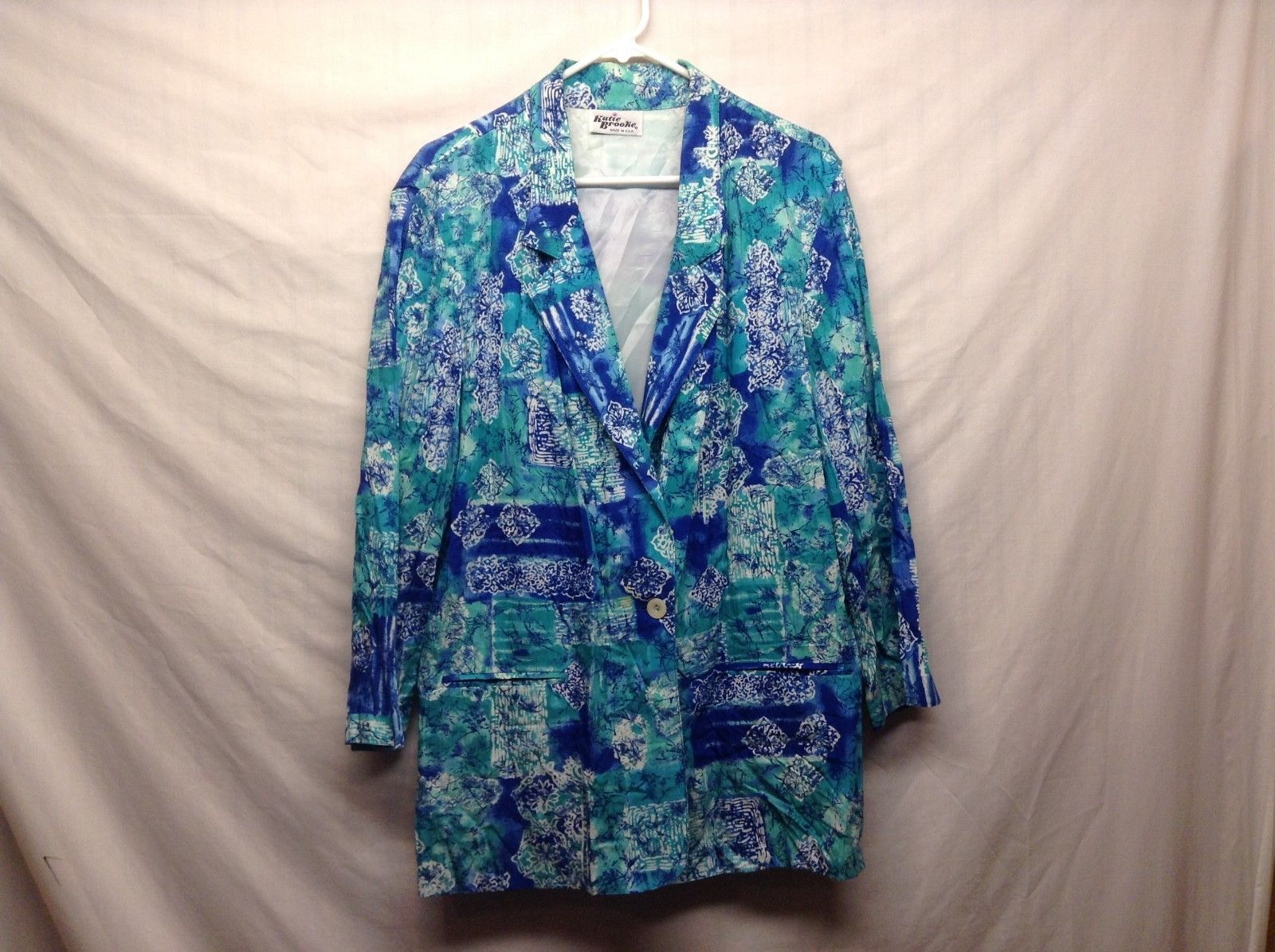 Katie Brooke Blue Casual Summer Evening Jacket