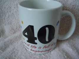 40th Birthday Mug Hallmark New - $2.99