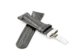 20mm 22mm 24mm BLACK LEATHER WATCH BAND JOE ROD... - $34.99