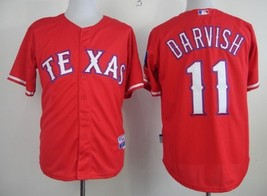 #11 Yu Darvish Red Texas Rangers Majestic MLB Jersey - $37.99