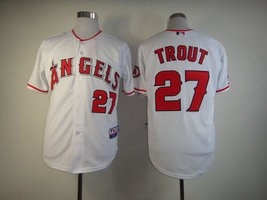 #27 Mike Trout White Majestic Los Angeles Angels MLB Jersey - $37.99