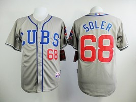 #68 Jorge Soler Gray Chicago Cubs Majestic MLB Jersey - $37.99
