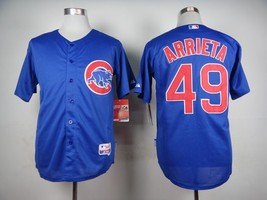 #49 Jake Arrieta Blue Chicago Cubs Majestic MLB Jersey - $37.99