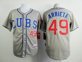 #49 Jake Arrieta Gray Chicago Cubs Majestic MLB Jersey - $37.99