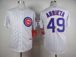 #49 Jake Arrieta White Chicago Cubs Majestic MLB Jersey - $37.99