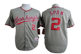 #2 Denard Span Gray Washington Nationals Majestic MLB Jersey  - $37.99