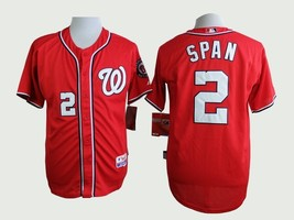 #2 Denard Span Red Washington Nationals Majestic MLB Jersey  - $37.99