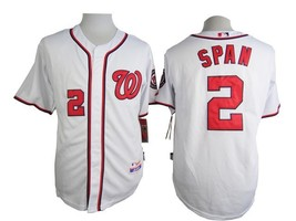 #2 Denard Span White Washington Nationals Majestic MLB Jersey  - $37.99