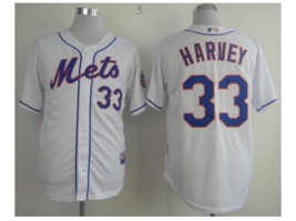 Youth/Kids #33 Matt Harvey White New York Mets Majestic Mlb Jersey - $37.99