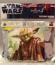Star Wars Happy Birthday Jointed Party Banner   Yoda, Darth Vader,  Stormtrooper - $5.94