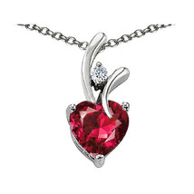7 Mm Or 9 Mm Heart Shape Ruby Pendant Solid 14 K Yellow Or White Gold Setting - $25.82+