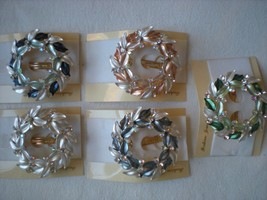 NEW Set of 5 Fancy Jeweled Decorative Hair Barr... - $23.20