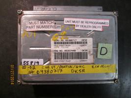 00 01 02 Chevy/Pontiac/Gmc Ecu/Ecm #09380717 Dksr *See Item Description* - $21.04
