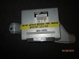 00 01 LEXUS ES300 ABS MODULE #89540-33270 BOX-10822 *See item description* - $29.70