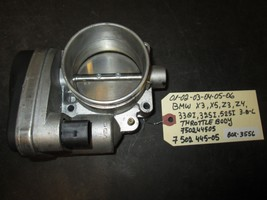 01-06 BMW X3,X5,Z3,Z4,330i,325i,525i, 3.0L THROTTLE BODY #750244505/7 502 445-05 - $58.90