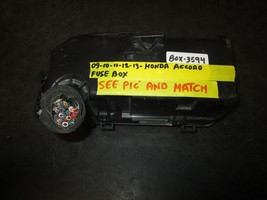 09 10 11 12 13 Honda Accord Fuse Box *See Item Description* - $51.47