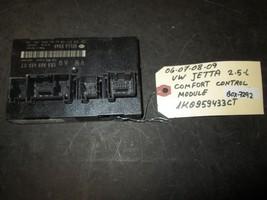 06 09 Vw Jetta 2.5 L Comfort Control Module #1 K0959433 Ct *See Item* - $31.56
