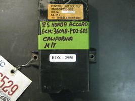 85 Honda Accord M/T Ca Ecm #36048 Pd2 685 - $50.48