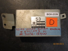 93 94 NISSAN ALTIMA ECU/ECM #ETC-N53 F1/31036-1E400 *See item descriotion* - $31.68